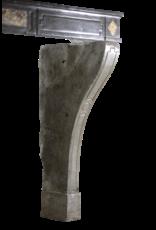Groß French Country Zweifarbig Hartstein Antike Kamin Maske