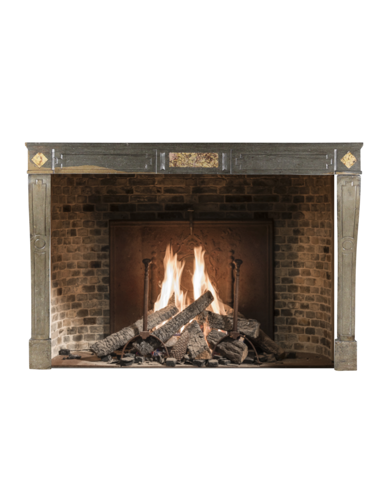 The Antique Fireplace Bank Groß French Country Zweifarbig Hartstein Antike Kamin Maske