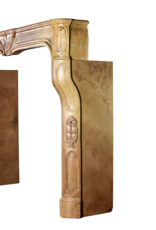 Groß Art Deco Antike Kamin Maske Aus Zweifarbigem Hartstein