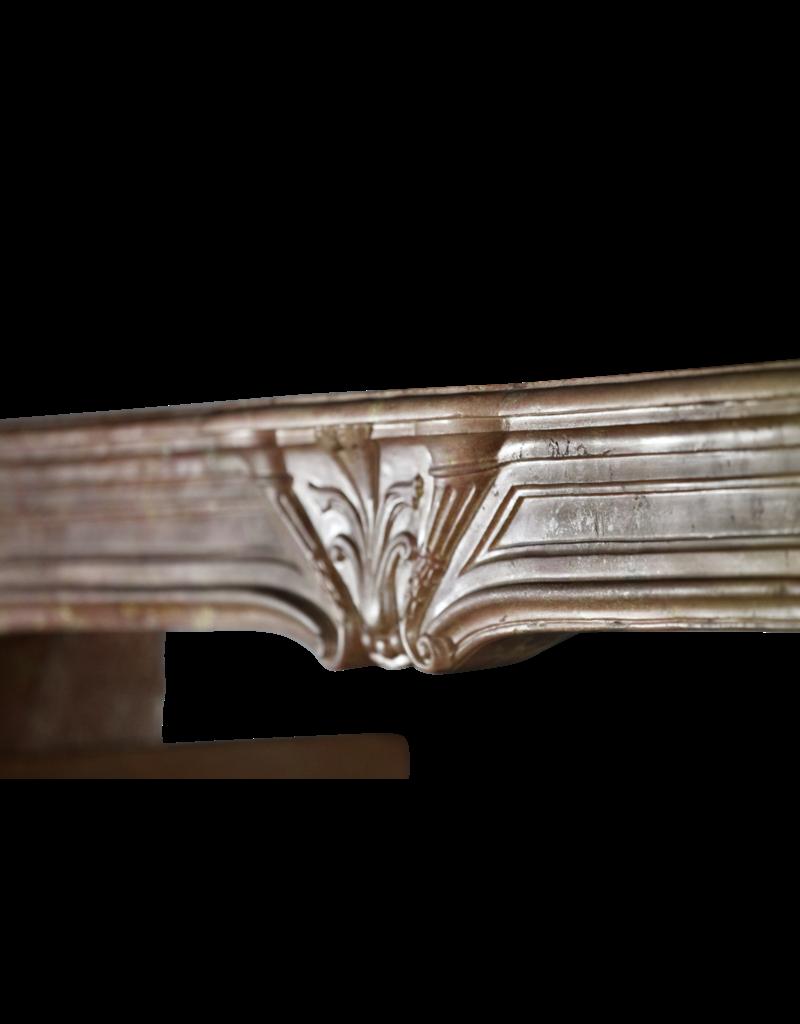 Grand Art Deco Chimenea Antigua En Piedra Dura Bicolor