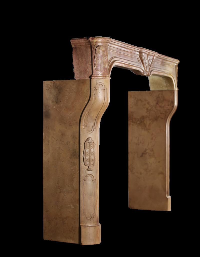 Grand Art Deco Antike Kamin Maske Aus Zweifarbigem Hartstein