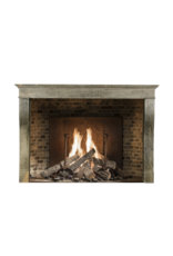French 19Th Century Bicolor Burgundy Vintage Fireplace Surround