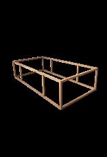Rechteckiger Tischfuß aus Stahl