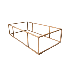 The Antique Fireplace Bank Table Base In Steel