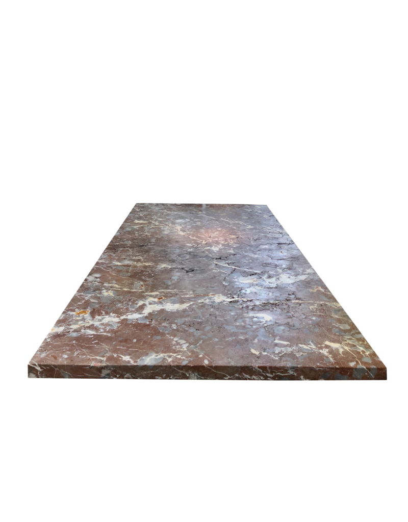 Original Table Top In Antique Roche Fort Marble From The Ardennes