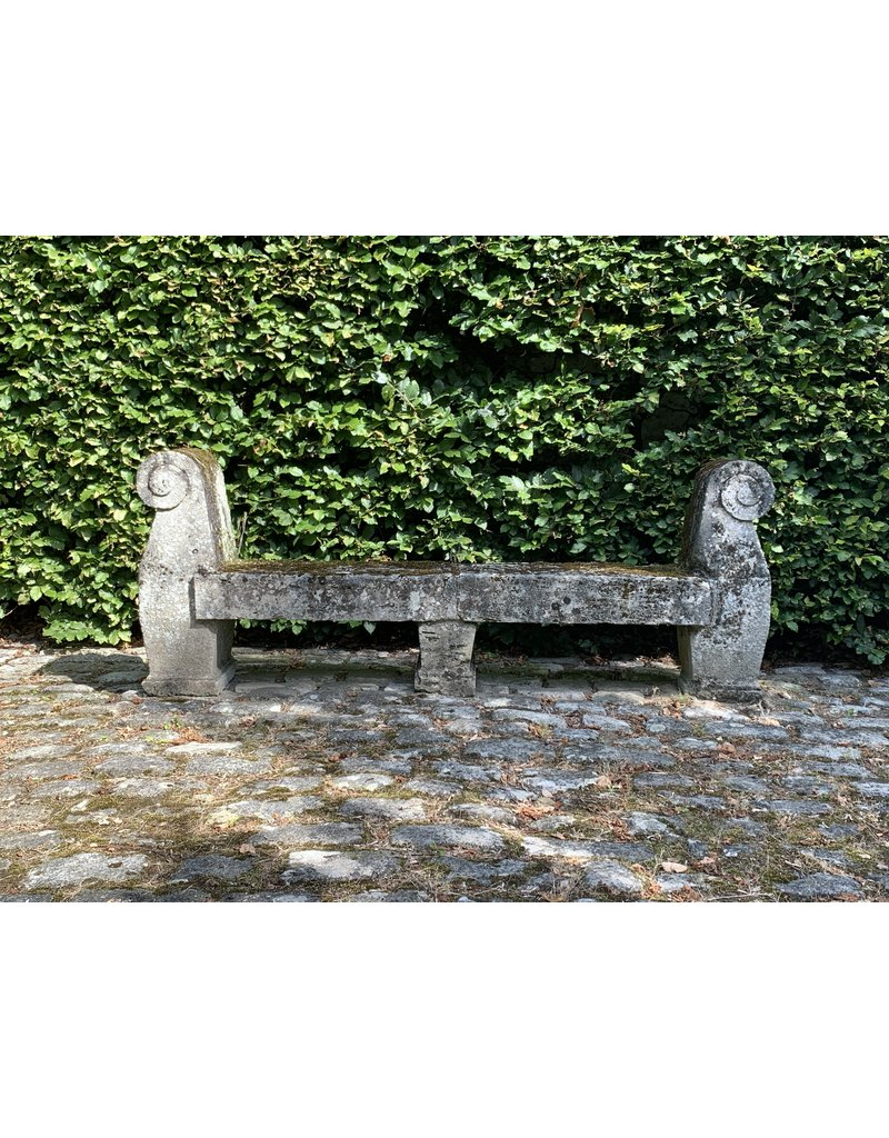 The Antique Fireplace Bank Antique French Castle Garden Bench In Limestone
