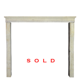 French Limestone Rustic Fireplace Mantle