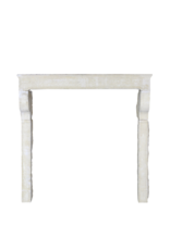 Grand French Country Style Limestone Fireplace Surround
