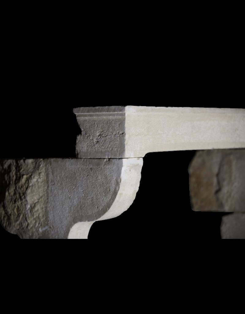 Alrededor De La Chimenea De Piedra Caliza De Estilo Rústico Francés