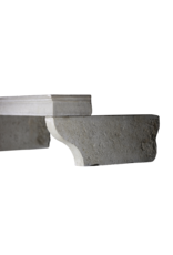 French Country Style Limestone Fireplace Top