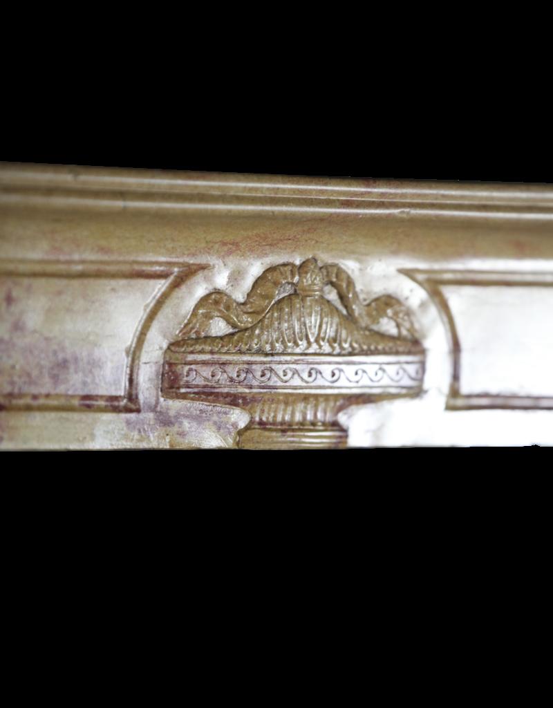Maison Leon Van den Bogaert Antique Fireplaces & Vintage Architectural Elements Chimenea Francés De Piedra Dura Bicolor