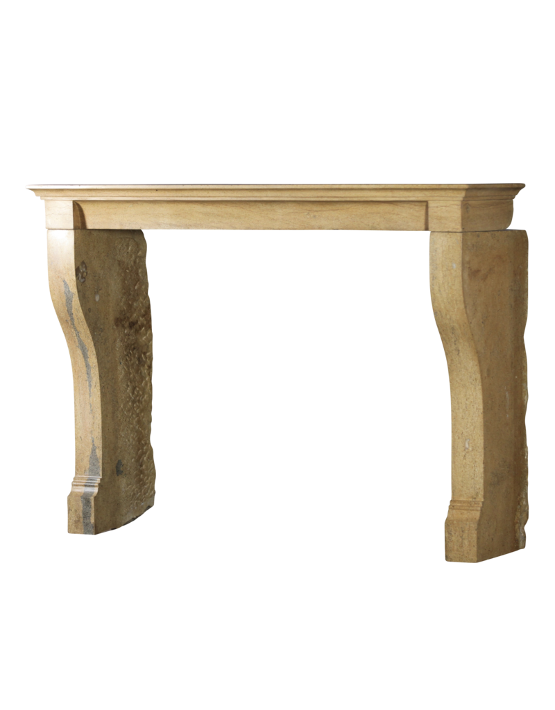 French Bicolor Stone Louis Philippe Period Fireplace Surround