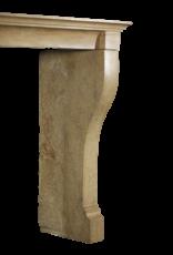 Piedra Bicolor Francesa Louis Philippe Período Chimenea Surround