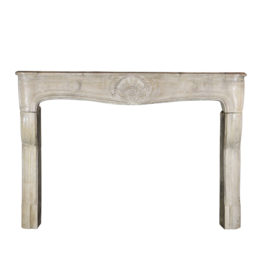 The Antique Fireplace Bank Strong French Louis Xv Period Limestone Chimney Piece