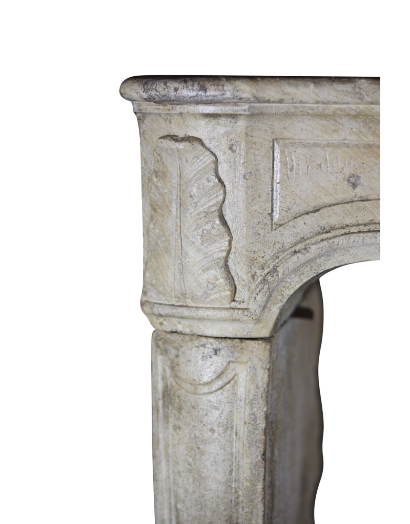 Regency Period French Vintage Limestone Fireplace Surround