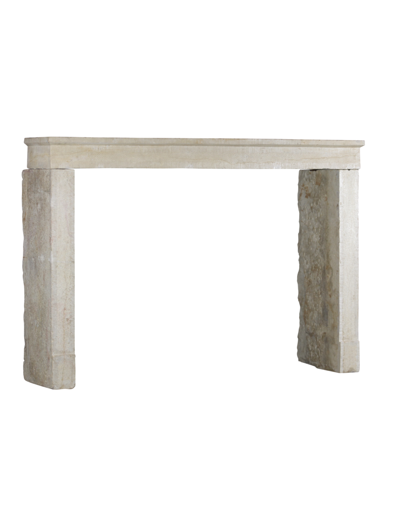 Alrededor De La Chimenea De Piedra Caliza Francesa Elegante Intemporal