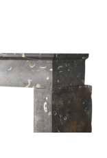Zeitlose Schicke Fossile Marmorstein-Kamin-Einfassung Des 17. Jahrhunderts