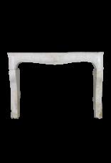 Clásico Francés Louis Xv Período Chimenea En Piedra Caliza Dura