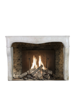 Classic French Louis Xv Period Fireplace Surround In Hard Limestone