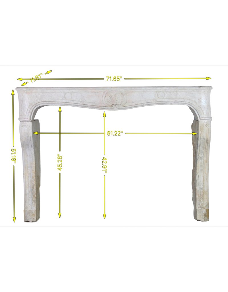 The Antique Fireplace Bank Classic French Louis Xv Period Fireplace Surround In Hard Limestone