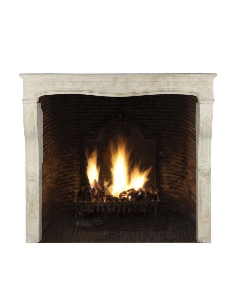 The Antique Fireplace Bank Groß French Country Style Kalkstein Kaminmaske