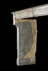 Bicolor Vintage Piedra Dura Chimenea Francesa