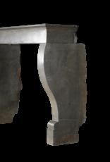 Elegante Chimenea Bicolor De Piedra Dura Francesa