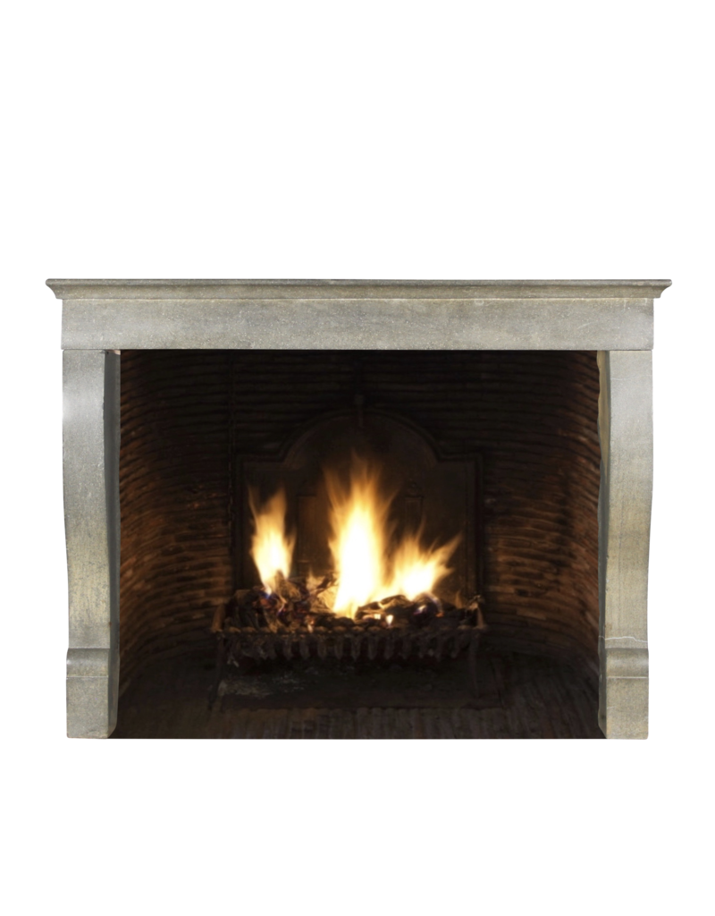 The Antique Fireplace Bank Elegant French Bicolor Hard Stone Fireplace