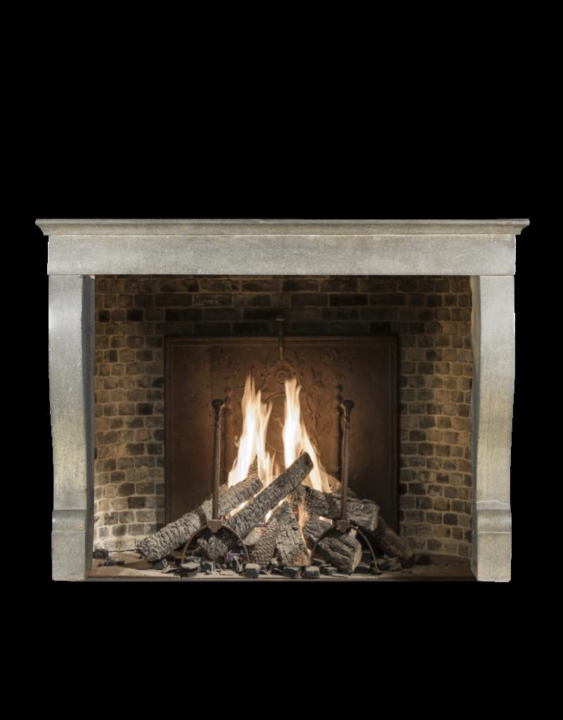 Elegant French Bicolor Hard Stone Fireplace