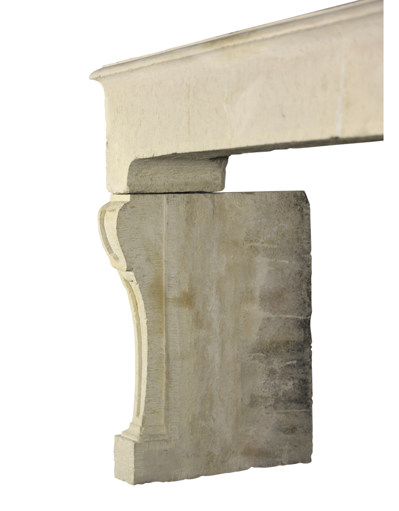 The Antique Fireplace Bank Antike Französische Kalkstein-Kamin Im Landhausstil