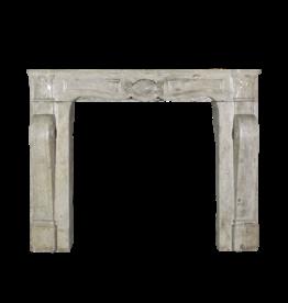 The Antique Fireplace Bank Mid-War Travertin Marmor Kaminmaske