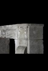 Mid War Travertine Marble Fireplace Surround