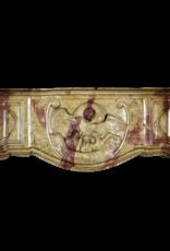 The Antique Fireplace Bank Außergewöhnliche Französische Zweifarbige Steinkaminverkleidung