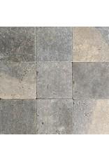 Original French Bicolor Limestone Floor