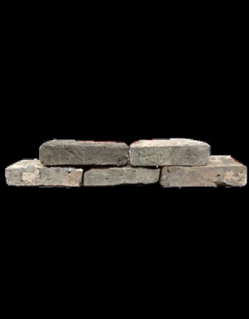 Antike Belgische Zurückgeforderte Graue Terrakotta-Steine ??für den Kaminverkleidung