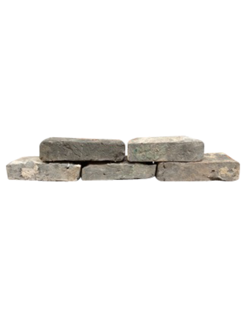 The Antique Fireplace Bank  Antike Belgische Zurückgeforderte Graue Terrakotta-Steine ??für den Kaminverkleidung