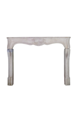 Classic French Bicolor Limestone Fireplace Surround