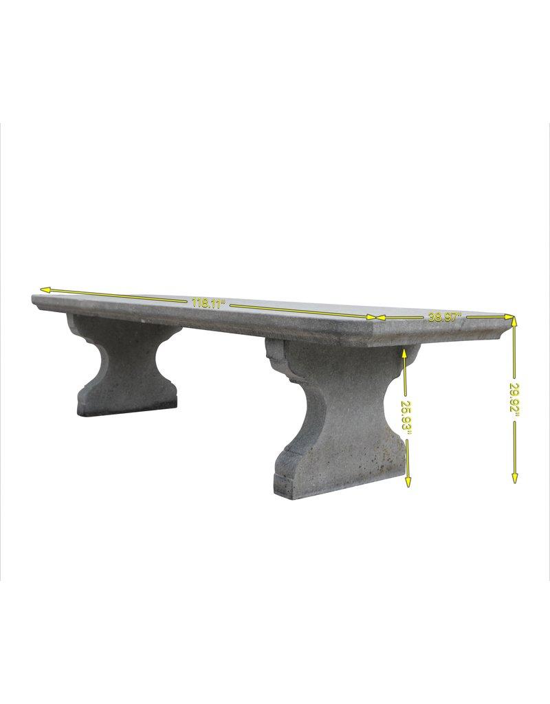 Große Belgische Bleu Stein Tisch Im Freien