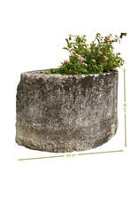 Steintrog Aus Einem Französischen Garten