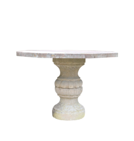 French Antique Rouge Languedoc Marble Table