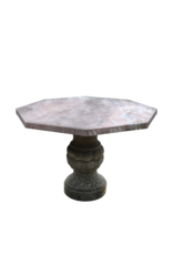 Octagonal French Antique  Rouge Languedoc Marble Table