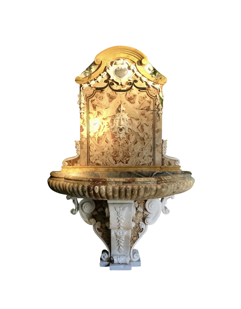 Par De Fuente De Pared De Marmor Monumental