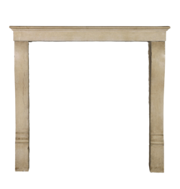 The Antique Fireplace Bank Small Vintage Classic French Hard Limestone Fireplace Surround