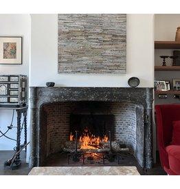 The Antique Fireplace Bank Belgischer Grauer Terrakotta Chamotte Kamin Verkleidung