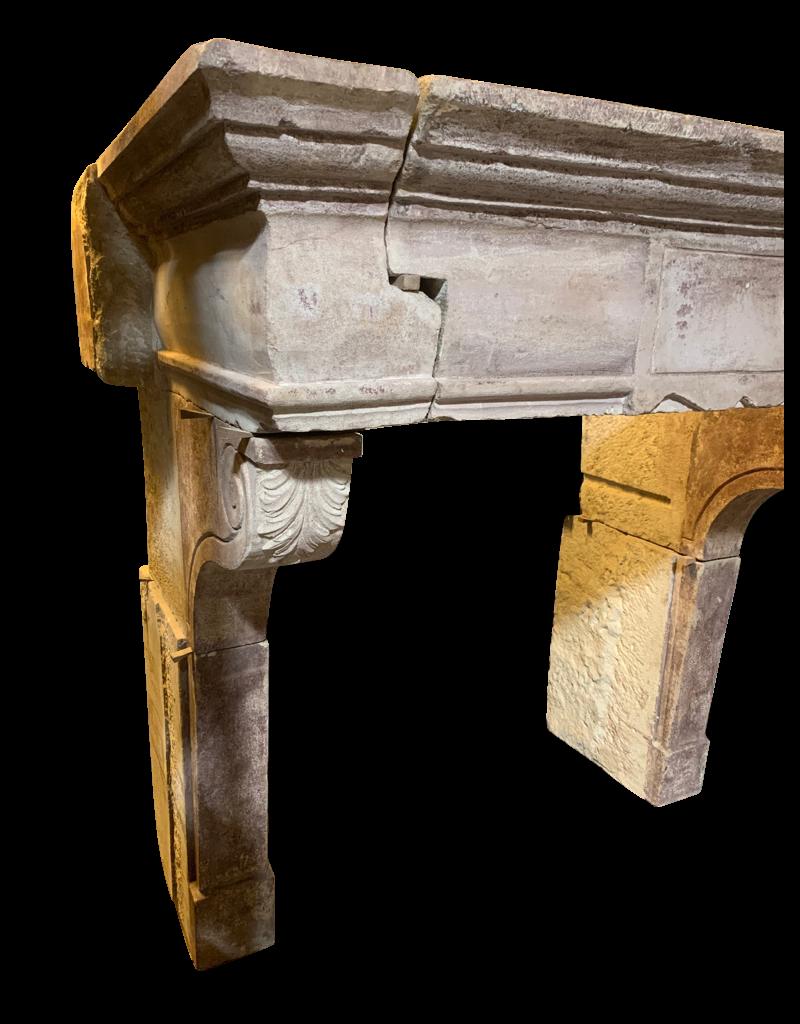 The Antique Fireplace Bank Francés Periodo Renaiscance Chimenea Vintage Envolvente En Piedra Caliza