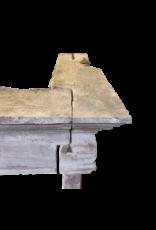 Francés Periodo Renaiscance Chimenea Vintage Envolvente En Piedra Caliza