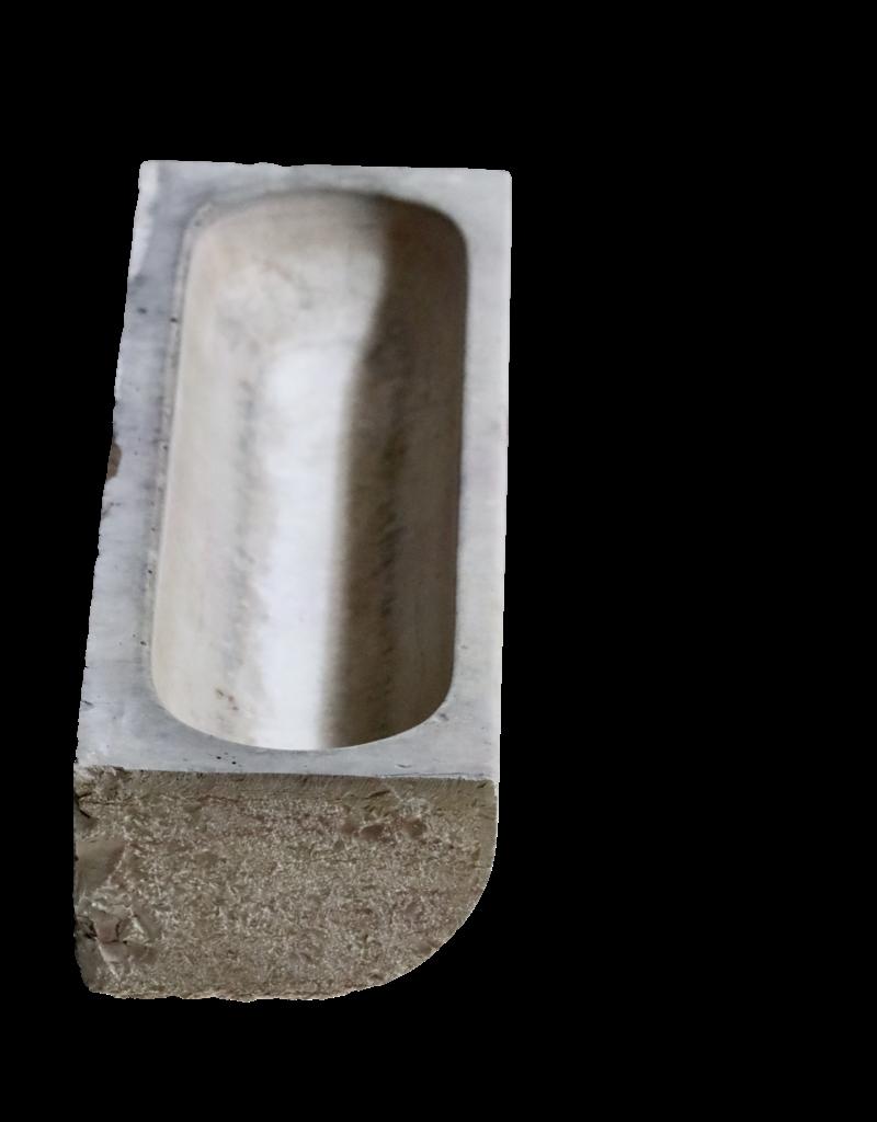 Antike Marmorsteintrog Aus Einem Französischen Garten