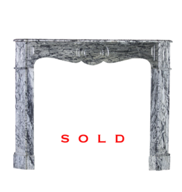 The Antique Fireplace Bank French Grey Marble Pompadour Vintage Fireplace Surround