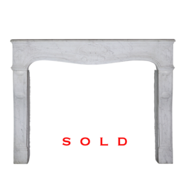 The Antique Fireplace Bank French White Carrara Marble 19Th Century Fireplace Surround