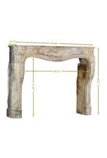 The Antique Fireplace Bank Louis XIV. Periode Vintage Kaminmaske